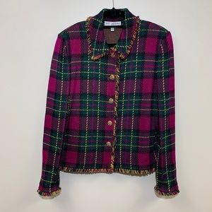 St. John Collection by Marie Gray Plaid Blazer